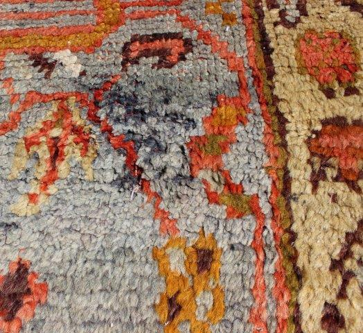 Dog Eating Wool Rug
